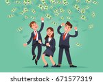 vector illustration of happy... | Shutterstock .eps vector #671577319