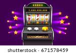 3d slots machine wins the... | Shutterstock .eps vector #671578459