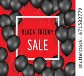 black friday sale poster with... | Shutterstock .eps vector #671582779
