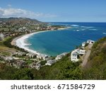 frigate bay  st kitts view of... | Shutterstock . vector #671584729