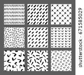 hand drawn ink seamless pattern ... | Shutterstock .eps vector #671585029