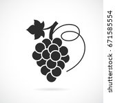 grapes vector icon isolated on... | Shutterstock .eps vector #671585554