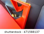 stairs. top view of modern... | Shutterstock . vector #671588137