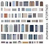 set of vector isolated... | Shutterstock .eps vector #671597635