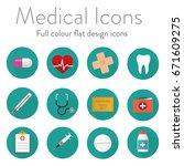 flat medical icon set   Shutterstock .eps vector #671609275