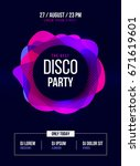 party flyer poster for night... | Shutterstock .eps vector #671619601