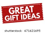 great gift ideas sign or stamp... | Shutterstock .eps vector #671621695