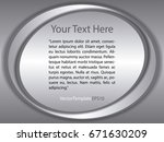 template black  silver and... | Shutterstock .eps vector #671630209