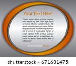 template silver  orange  black... | Shutterstock .eps vector #671631475