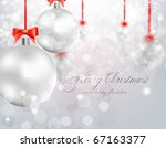christmas background with... | Shutterstock .eps vector #67163377