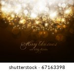 elegant christmas background... | Shutterstock .eps vector #67163398