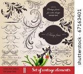 vector set  calligraphic... | Shutterstock .eps vector #67163401