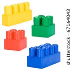 colorful plastic bricks... | Shutterstock . vector #67164043