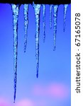 shining icicles | Shutterstock . vector #67165078