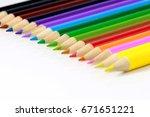 colorful pencils | Shutterstock . vector #671651221