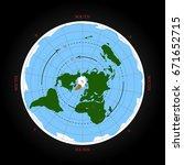 cardinal direction on flat... | Shutterstock .eps vector #671652715