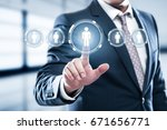 human resources hr management... | Shutterstock . vector #671656771