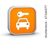 rent a car sign on a white... | Shutterstock . vector #67166377