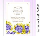 vintage delicate invitation...   Shutterstock .eps vector #671667301