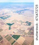 Small photo of Fields of Arizona, USA, seen from above, with a few neighborhoods in the city of Maricopa.