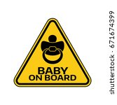 baby on board sign with child... | Shutterstock .eps vector #671674399