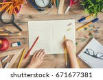 back to school and happy time ... | Shutterstock . vector #671677381