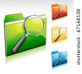folder search icon  with color...