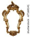 Golden Retro Mirror Frame ...
