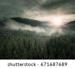 epic fantasy landscape | Shutterstock . vector #671687689
