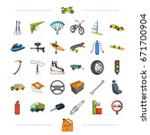 components  business  tradeand... | Shutterstock .eps vector #671700904