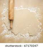 rolled out pie crust | Shutterstock . vector #67170247