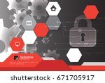 secure digital space. virtual... | Shutterstock .eps vector #671705917