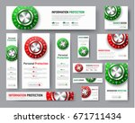 design of web banners of... | Shutterstock .eps vector #671711434