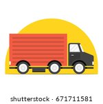 concept of the shipping service.... | Shutterstock .eps vector #671711581