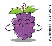 kissing closed eyes grape... | Shutterstock .eps vector #671718841
