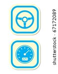 wheel and speedometer icons | Shutterstock .eps vector #67172089