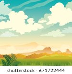 vector spring illustration.... | Shutterstock .eps vector #671722444