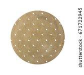 vector watercolor stain.brown... | Shutterstock .eps vector #671722945