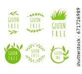 vector gluten free labels ... | Shutterstock .eps vector #671726989
