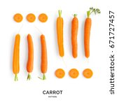 seamless pattern with carrot.... | Shutterstock . vector #671727457
