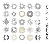 rays and starburst design... | Shutterstock .eps vector #671728591