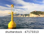 Floating Yellow Buoy On...