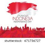 vector red color flat design ... | Shutterstock .eps vector #671736727