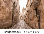 Small Alley With Porphyry Ston...