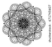 mandalas for coloring book.... | Shutterstock .eps vector #671745607