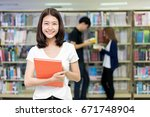 group of asian students... | Shutterstock . vector #671748904