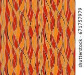 seamless texture   bright waves ... | Shutterstock .eps vector #671757979