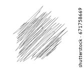 hand drawn or doodle scribble... | Shutterstock .eps vector #671758669