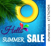 summer banner with the... | Shutterstock .eps vector #671762404