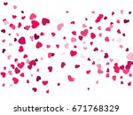 red hearts background  love... | Shutterstock .eps vector #671768329